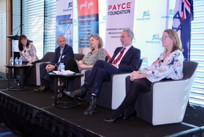 Expert panel at the AICC event on corporate philanthropy